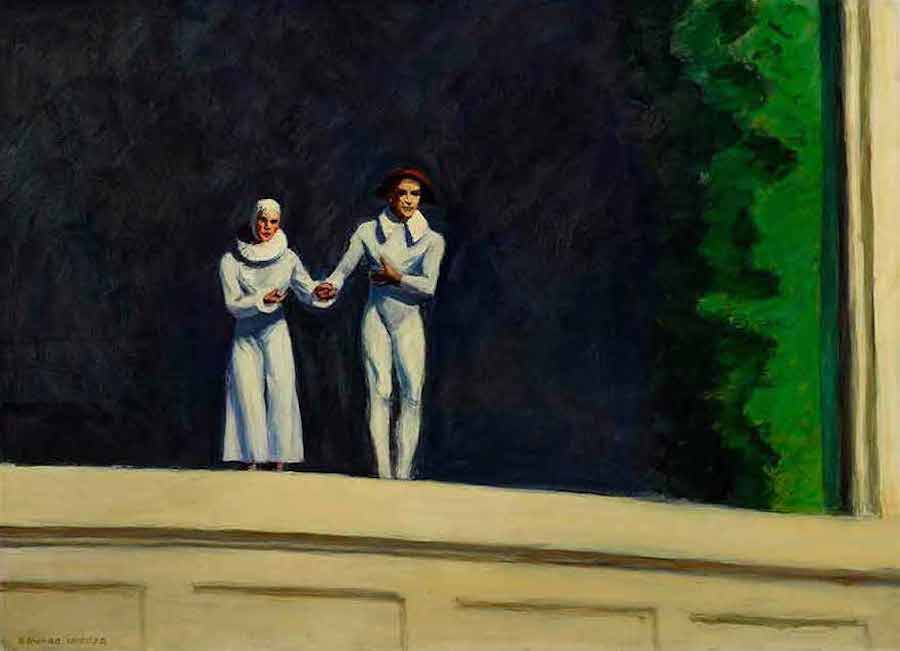 Edward Hopper's autobiographical masterwork Two Comedians,