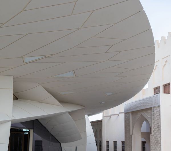 Photo: View from Sheikh Abdullah bin Jassim Al Thani's Old Palace into the courtyard of the upcoming National Museum of Qatar designed by Atelier Jean Nouvel (photo credit: Iwan Baan)