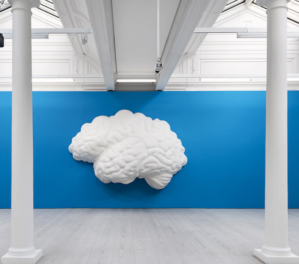John Baldessari has launched Brain/Cloud (Two Views): with Palm Tree and Seascape, 2009