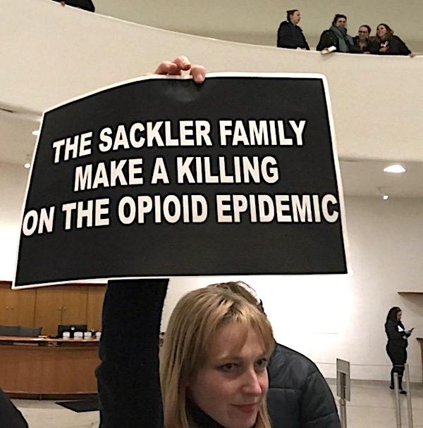 Sackler Protest Guggenheim