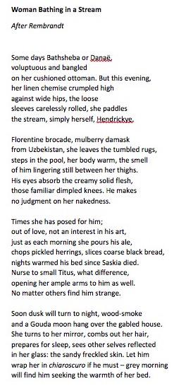 Poem by Sue Hubbard