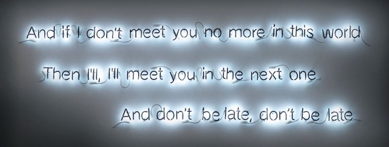 Cerith Wyn Evans (b. 1958), And if I don't meet you no more..., executed in 2006. Sold for £68,750 on 14 March 2019 at Christie's in London