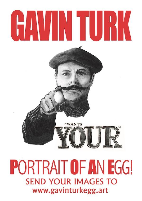 Gavin Turk Egg Portrait