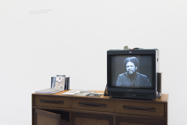 Grace Wales Bonner, Shrine I 2019, Grace Wales Bonner: A Time for New Dreams. (Installation view, 18 January – 17 March 2019, Serpentine Galleries). © 2019