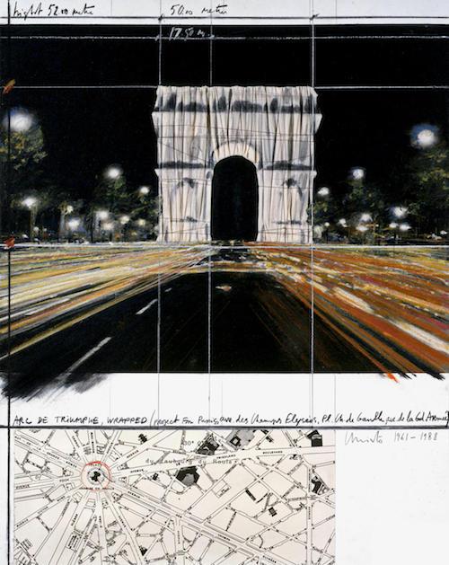 Christo Arc de Triomphe, Paris