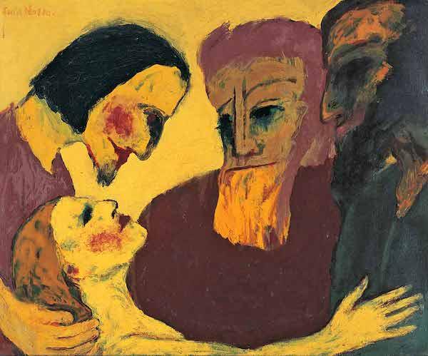 Emil Nolde, The Sinner, 1926 , Oil on canvas, 86 × 106 cm © Nolde Stiftung Seebüll / Staatliche Museen zu Berlin, Nationalgalerie / Jörg P. Anders