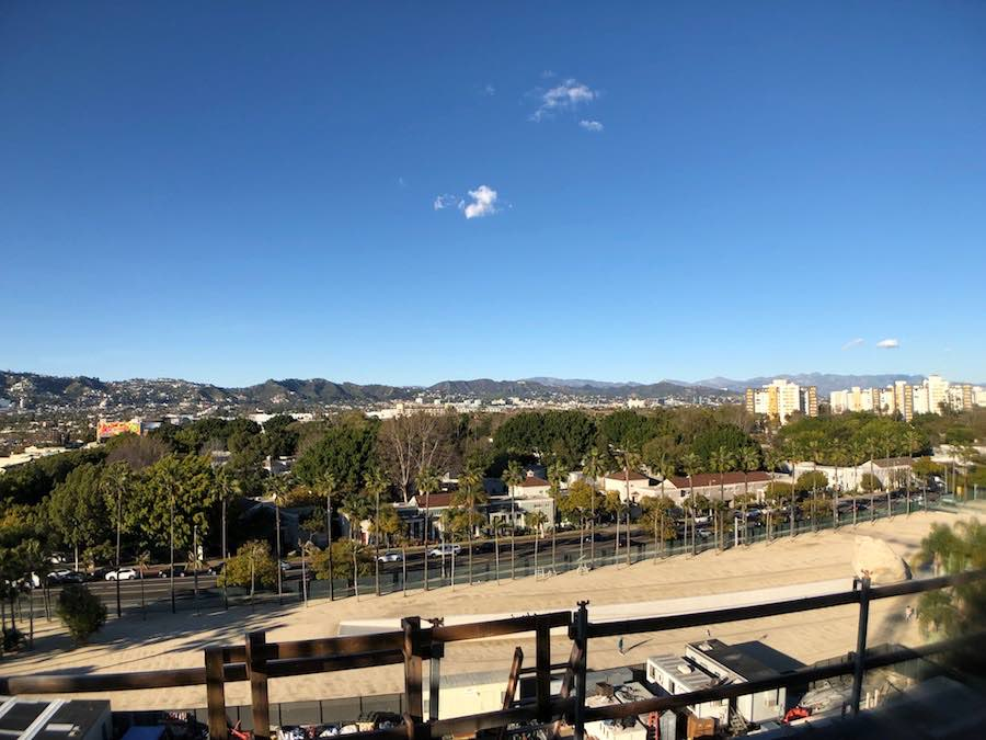 View from the Dolby Terrace Academy Museum.