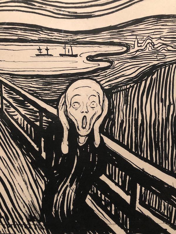 Edvard Munch The Scream Woodcut