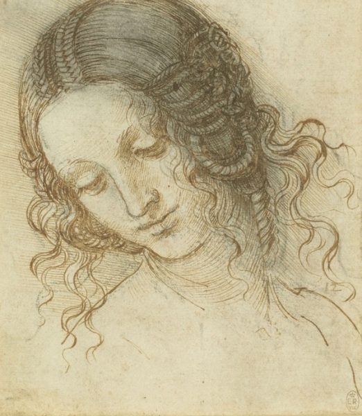 LEONARDO DA VINCI (VINCI 1452-AMBOISE 1519) The head of Leda