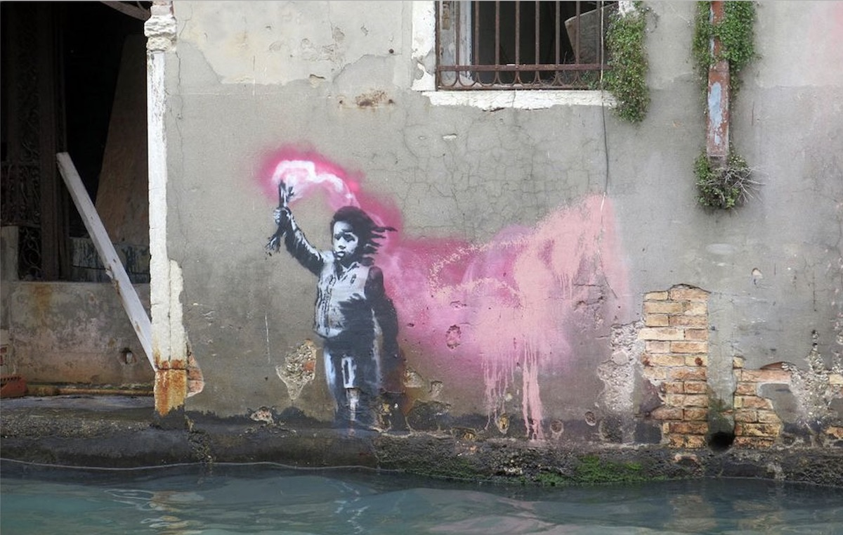 New Banksy In Venice Sparks Reaction To Rugoff's Death Ship