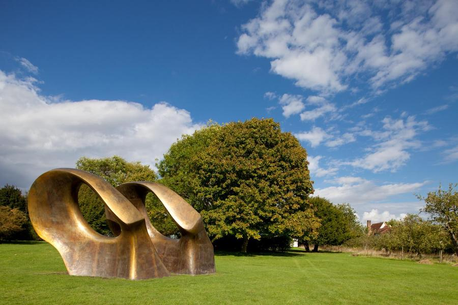 Double Oval 1966 Cast bronze at Perry Green Jonty Wilde