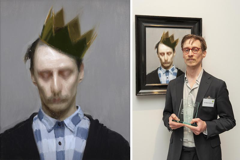 The Crown by Carl-Martin Sandvold, 2019 © Carl-Martin Sandvold; Second Prize Winner Carl-Martin Sandvold with his portrait The Crown. Photograph by Jorge Herrera