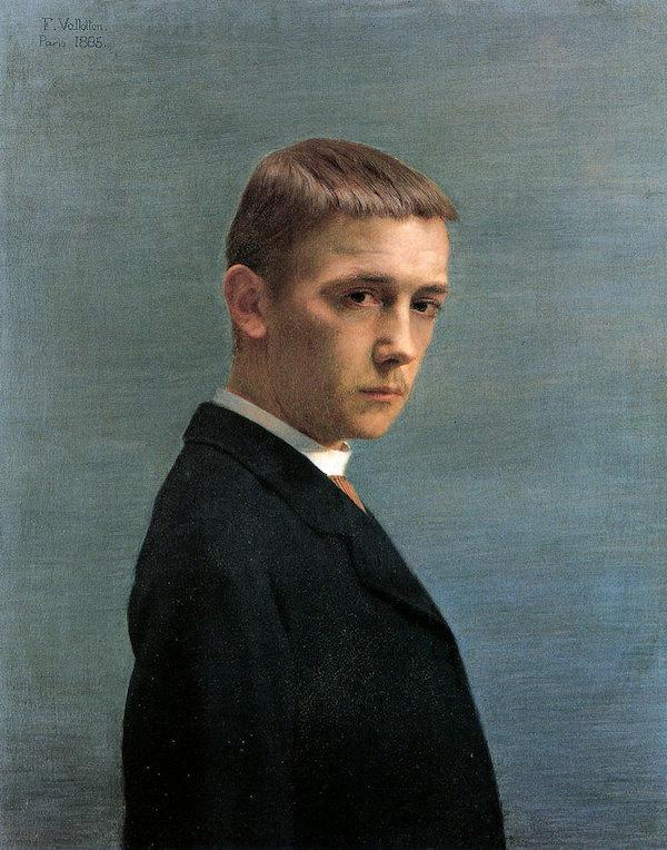 Félix Vallotton, Self-portrait at the Age of Twenty (Autoportrait à l'âge de vingt ans), 1885.