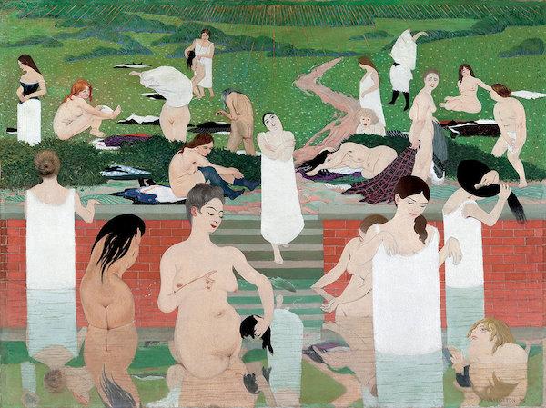 Félix Vallotton, Bathing on a Summer Evening (Le Bain au soir d'été) (detail), 1892-93.
