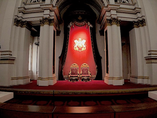 Queen Victoria and Prince Albert's Thrones at Buckingham Palace