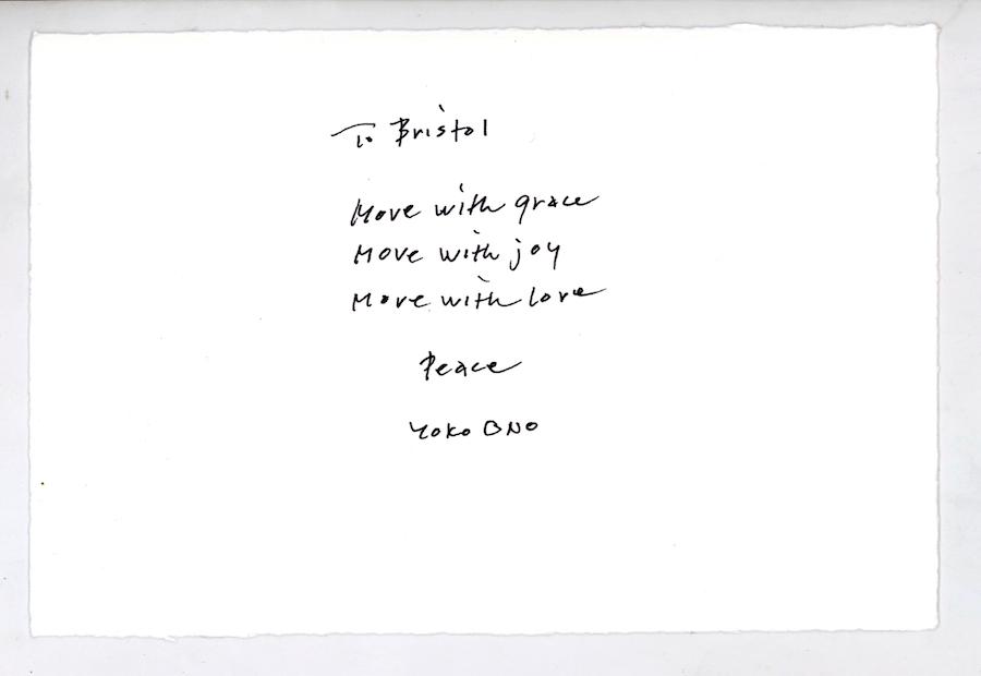 Yoko Ono Message for Bristol