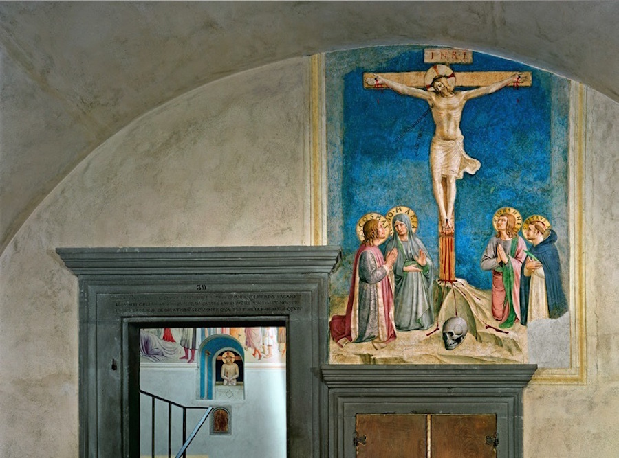 Crucifixion with the Virgin and Saints Cosmas, John the Evangelist and Peter Martyr by Fra Angelico, Florence, Italy, 2010. Archival pigment print. (c) Robert Polidori Courtesy of Flowers Gallery.