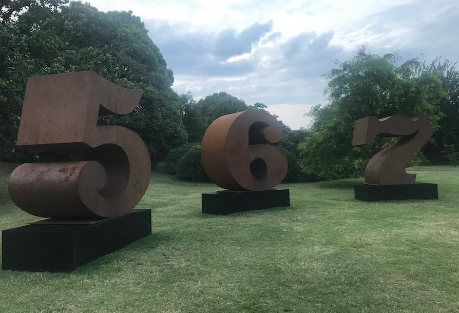 Robert Indiana Frieze sculpture