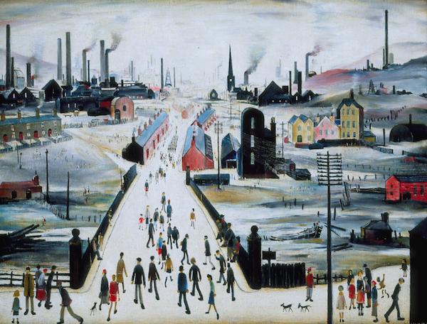 THE CANAL BRIDGE LAURENCE STEPHEN LOWRY (1887-1976)