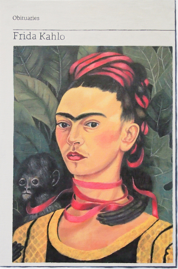 Hugh Mendes 'Obituary: Frida Kahlo', 2019 Oil on linen 40x30cm