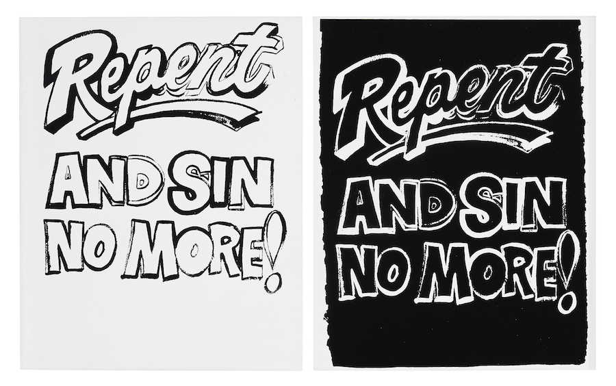 Sin Andy Warhol Repent, and Sin No More! (Positive and Negative), 1985-86