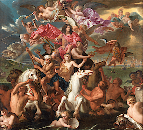 British Baroque Antonio Verrio The Sea Triumph of Charles II c.1674 The Royal Collection Trust/© Her Majesty Queen Elizabeth II 2019