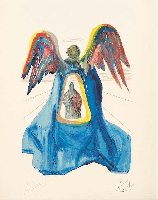 Salvador Dalí Purgatory = Salvador Dalí, The Divine Comedy, Purgatory Dante Purified, 1960, wood engraving