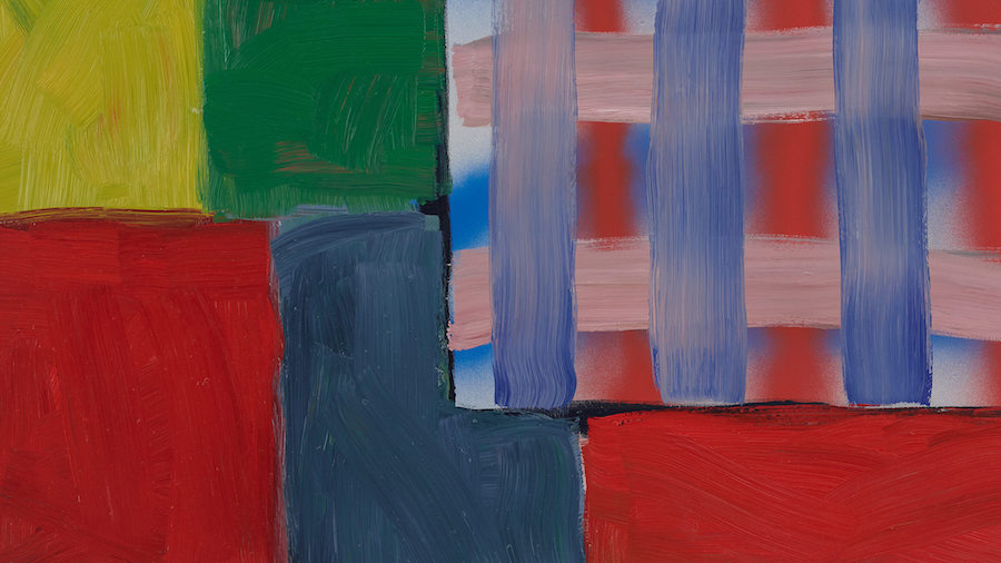 Untitled (Window) (detail), 2017, by Sean Scully (American, born Ireland 1945) (Collection of the artist) © Sean Scully