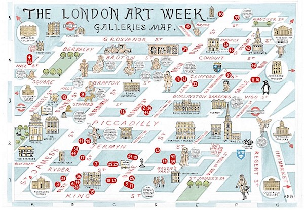 London Art Week Map
