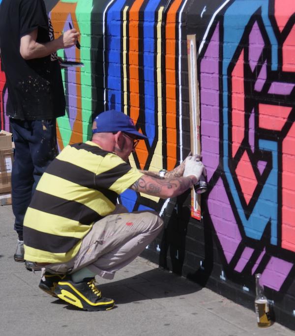 Ben Eine, West Hampstead,Street Art