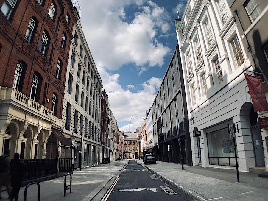 Cork Street London Gallery Lockdown