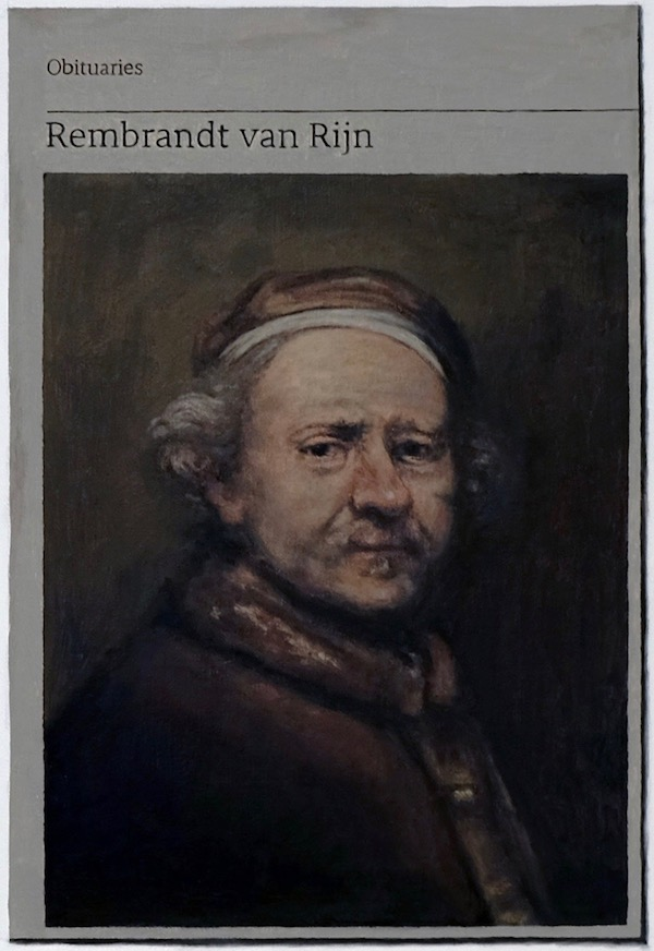 Hugh Mendes Obituary Rembrandt Self Portrait 2019