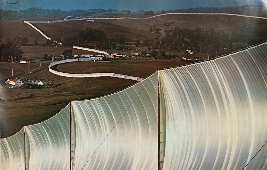 Christo and Jeanne-Claude Running Fence 1976