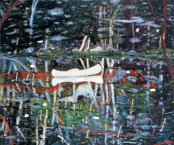 Peter Doig,White Canoe 1990/1,Significant Works