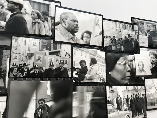photographic installation by Isaac Julien, Lessons of the Hour, London -1983 – Who killed Colin Roach?