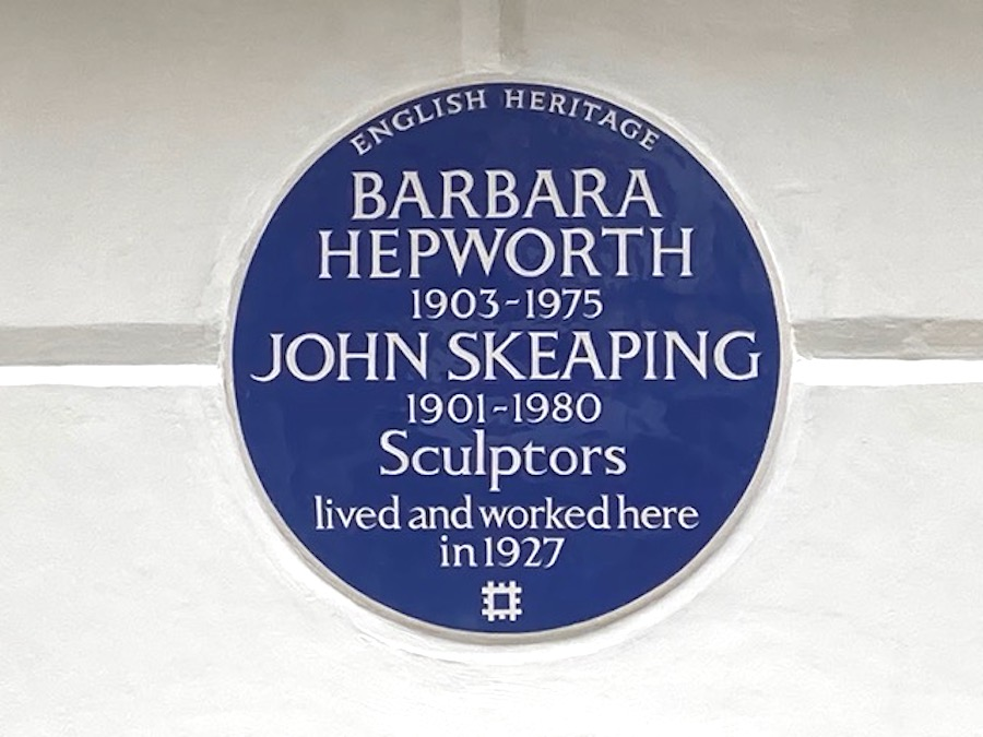 Blue English Heritage Plaque for Barbara Hepworth Unveiled