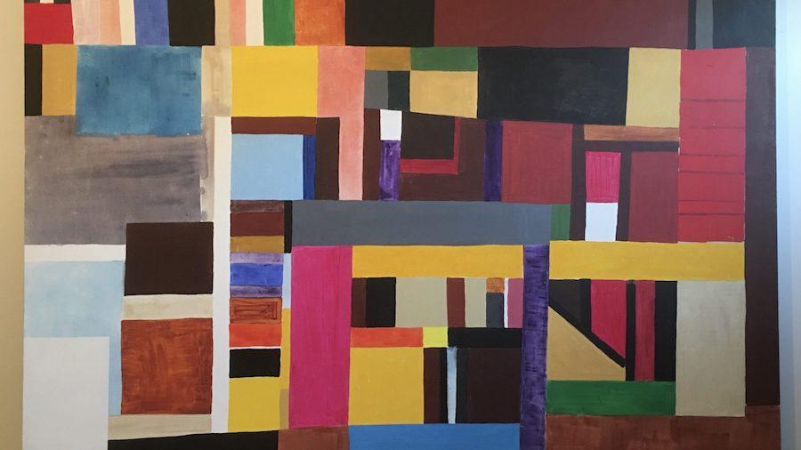Atta Kwami. Another Moment (2019). Acrylic Linen. 156x200.5x4cm