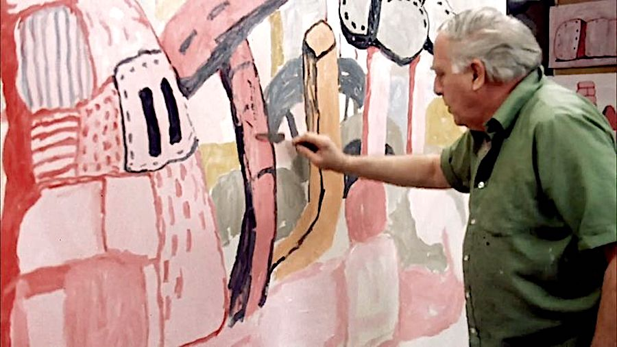 Philip Guston in Studio