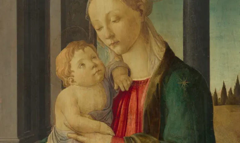 Sandro Botticelli's Madonna and Child (circa 1470), which has features in common with the missing masterpiece of 1485. Photograph: Andrew W Mellon Collection