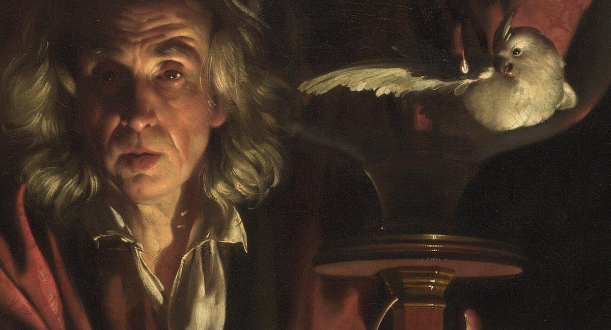 Photo:  Detail An Experiment on a Bird in the Air Pump Joseph Wright 'of Derby' National Gallery London