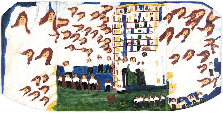 New Jerusalem, c 1955 by Sister Gertrude Morgan - photograph by Jorge Antony Stride