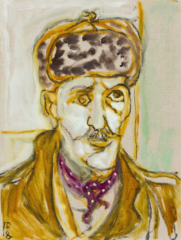 Billy Childish, self portrait after breakdown, 2018 © Billy Childish. Photo by Rikard Österlund. Courtesy the artist and neugerriemschneider, Berlin. Photo by Rikard Österlund