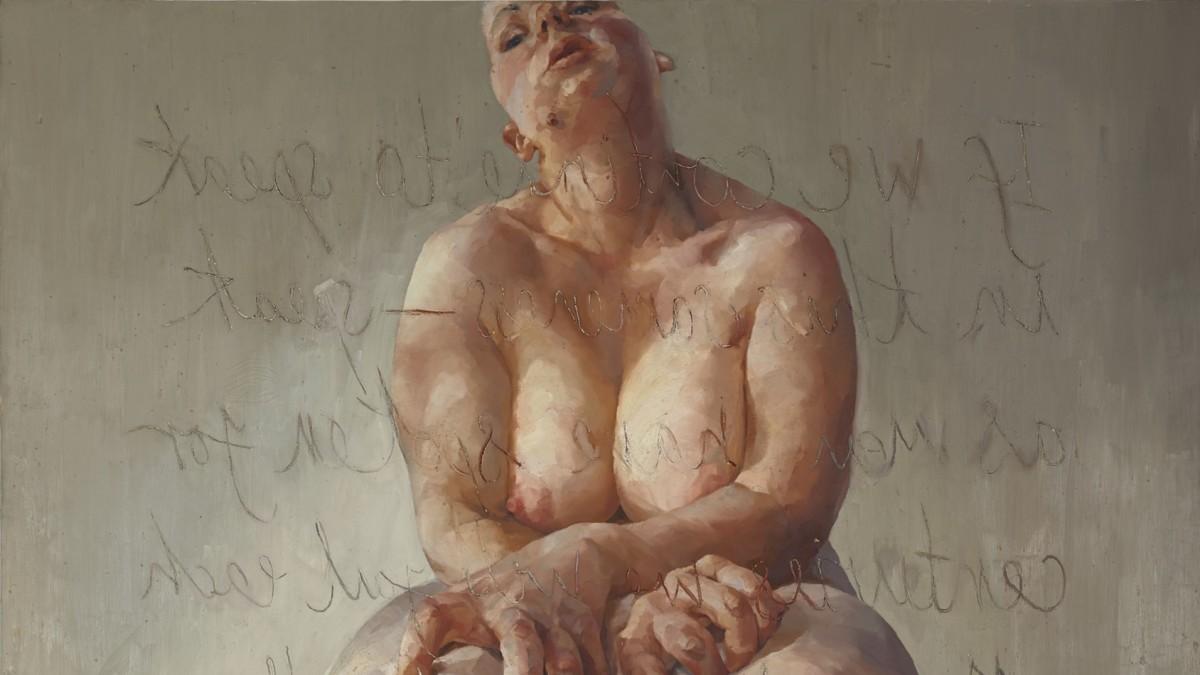 Jenny Saville Propped 1992 Photo Courtesy Sothebys