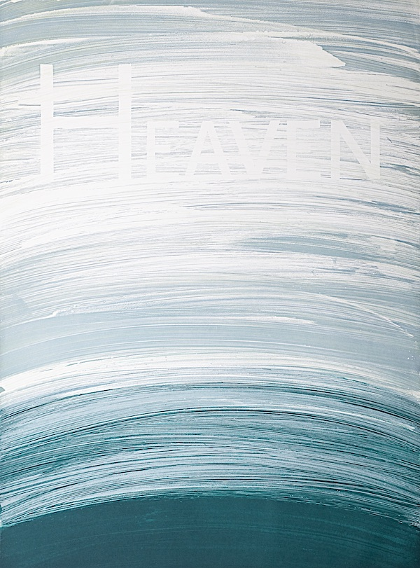 Heaven, Soap ground aquatint © Ed Ruscha Courtesy of the artist and the collection of Jordan D. Schnitzer
