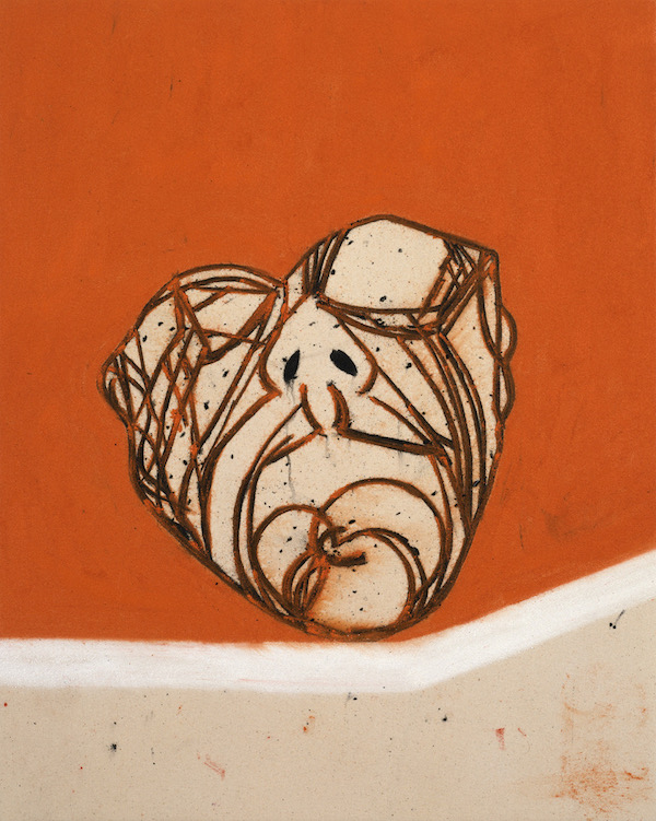 Tony Bevan 'HEAD' 2004 71cm x 57cm. Acrylic and Charcoal on Canvas (Private collection, Spain)