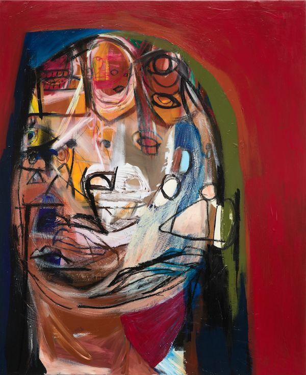 Genesis Tramaine, 'Parable of Nana', 2020 - Acrylic, Spray Paint, Oil Sticks, Yeshua - 182,9 x 152,4 x 3,8 cm, 72 x 60 x 1.5 inches / - © Genesis Tramaine - Courtesy the Artist and Almine Rech - Photo: Matthew Kroening