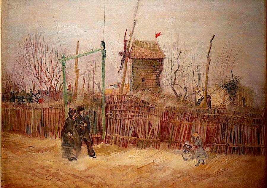 Vincent van Gogh, Scène de rue à Montmartre (Impasse des deux frères et le Moulin à Poivre), (1887). © Sotheby's