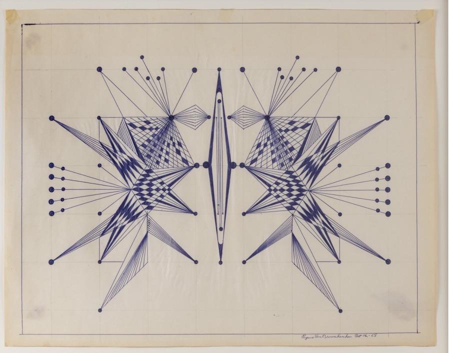 Exploding geometrics by Eugene Von Bruenchenhein (1910-1983)