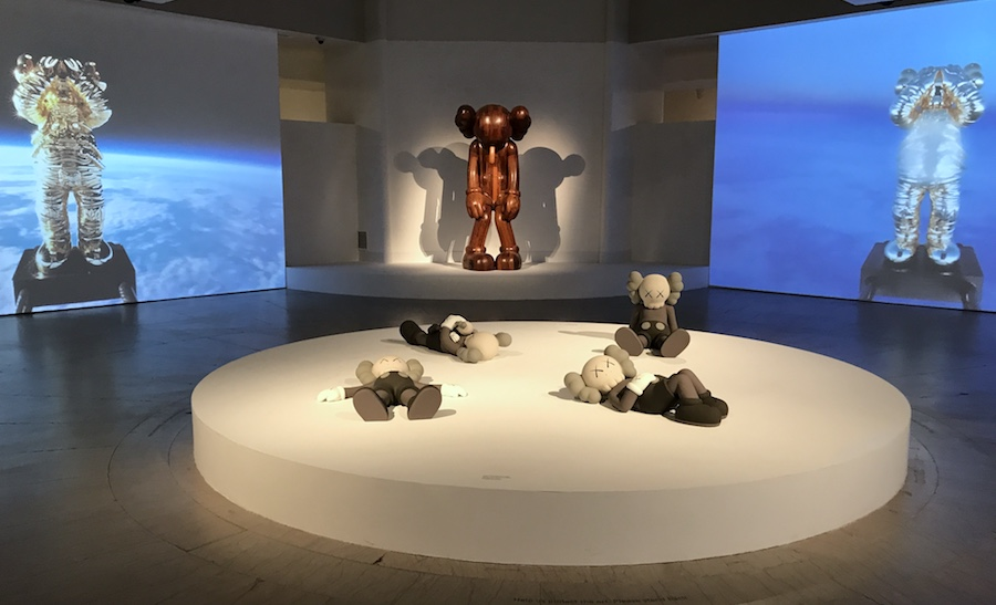 """""""Kaws: What Party"""", installation view at the Brooklyn Museum of art. Courtesy of the artist and Brooklyn Museum, New York."""