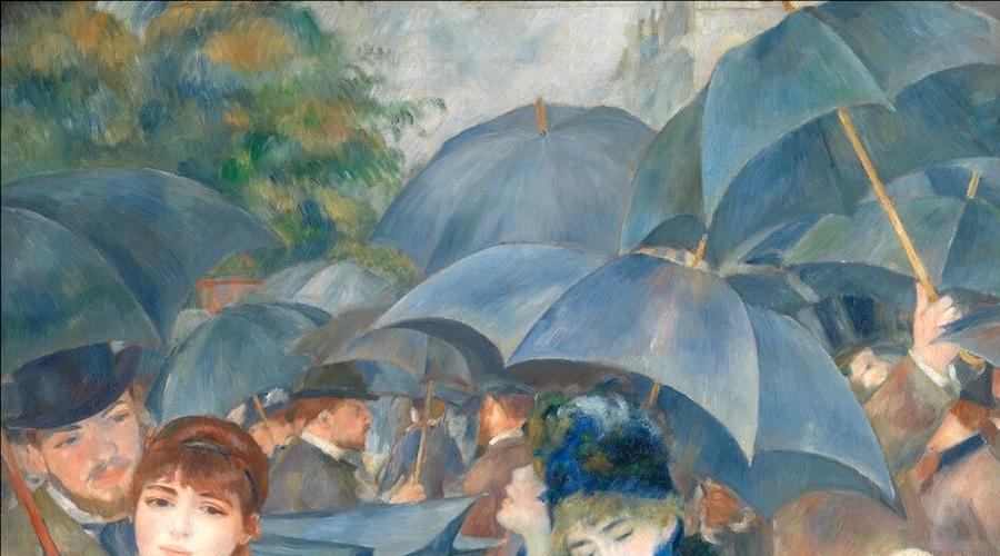 The Umbrellas by Pierre-Auguste Renoir National Gallery London